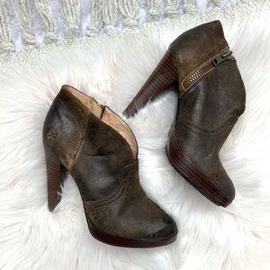 Frye Leather Heeled Booties